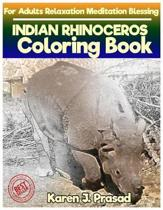 INDIAN RHINOCEROS Coloring book for Adults Relaxation Meditation Blessing