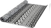 MaximaVida plastic kleed Ubud groot 180 x 270 cm zwart wit- made in India- recycle plastic