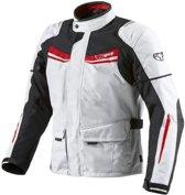 JET - Motorjas Heren Wit Textiel Beschermende Motor Motorfiets jas waterdicht CE - Motor jack - Protectie (L (40 - Motorjas42 ), rood / Wit)
