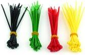 Gembird NCT-100 kabelbinder Nylon Zwart, Groen, Rood, Geel 100 stuk(s)