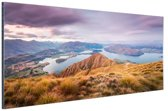 Bergen en meren Aluminium 90x60 cm - Foto print op Aluminium (metaal wanddecoratie)
