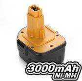 DE9071 / DE9074 / DE9075 Ni-MH 3.0Ah/12V Plus.Parts Accu voor DeWALT, Elu, Rems en Würth (36Wh)