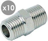 R1/4''xR1/4'' borstnippel (voordeel 10 stuks) - 20003-10