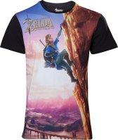 ZELDA BREATH OF THE WILD - T-Shirt All Over Link Climbing (XL)