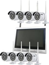 Nvr Bewakingscamera set 8 camera's Wifi buiten binnen draadloos met 12 inch monitor