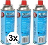 3x Kookstel gasflessen butaan gas - 3 stuks a 227 gram - gasbus navulling