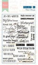 Marianne Design Stempel Project Nederlands  - Winter (Nederlands)