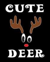 Cute Deer: Deer Elk Antler Hunting Hobby 2020 Monthly Planner Dated Journal 8'' x 10'' 110 pages