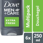 Dove Men+Care Extra Fresh - 6 x 250 ml - Douchegel - Voordeelverpakking