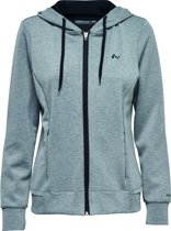 Only Play - FIONA Zip Sweat - Zwart/Grijs - Dames Vest - Maat M