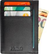 Compacte RFID Portemonnee met ID-Venster - Anti Skim Pasjeshouder - Zwart