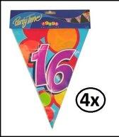 4x Vlaggenlijn 16 jaar 10 meter