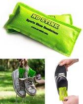 No Stink ontgeur-zakjes voor in sportschoenen (2-PACK groen)