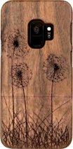 Houten Samsung S9 hoesje - walnoot
