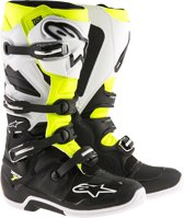 Alpinestars Crosslaarzen Tech 7 Black/White/Fluor Yellow-42 (EU)