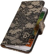 Wicked Narwal | Lace bookstyle / book case/ wallet case Hoes voor Samsung Galaxy E7 Zwart