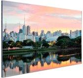 FotoCadeau.nl - Sao Paulo zonsopgang Aluminium 30x20 cm - Foto print op Aluminium (metaal wanddecoratie)