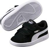 PUMA Smash v2 SD V Inf Kinderen Sneakers - Puma Black-Puma White - Maat 26