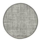Placemat linnen rond donker grijs