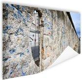Berlijnse muur met gat Poster 90x60 cm - Foto print op Poster (wanddecoratie)