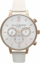 Olivia Burton Chrono Detail Mink & Rose Gold OB13CG01 - Horloge - Leer - Roségoud - 38mm