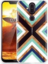 Nokia 8.1 Hoesje Wood Art