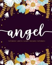 Angel: Notebook - Libreta - Cahier - Taccuino - Notizbuch: 110 pages paginas seiten pagine: Modern Florals First Name Noteboo