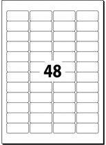 etiket Sigel afneembaar 45,7x21,2mm wit doos à 25 vel 48 etiketten per vel