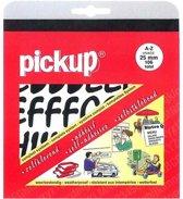 Pickup plakletters boekje Vivace 25mm letters zwart