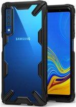 Ringke Fusion X Samsung Galaxy A7 (2018) Hoesje Doorzichtig Black