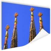 Details Sagrada Familia in Barcelona Poster 120x80 cm - Foto print op Poster (wanddecoratie)