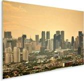 Oranje zonsondergang boven Manila Plexiglas 90x60 cm - Foto print op Glas (Plexiglas wanddecoratie)