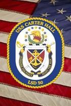 US Navy Dock Landing Ship USS Carter Hall (LSD 50) Crest Badge Journal