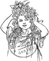 Cs0849 Clear stamp Lady