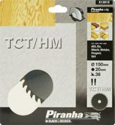 Piranha Cirkelzaagblad TCT/HM, 150x20mm 36 tanden X13015