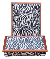 Margot Steel laptray/schoottafel Zebra - 41 x 31 10 cm