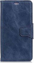 Shop4 - Motorola Moto G6 Hoesje - Wallet Case Echt Leer Cabello Blauw
