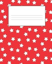 Red Composition . Notebook: Primary Ruled Notebook Lined School Journal - 110 Pages - 7.5 x 9.25'' - Children Kids Girls Boys Teens Women Wide Rule