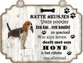 Spreukenbordje hond: Beagle