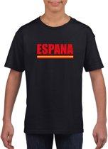 Zwart Espana supporter shirt kinderen - Spanje shirt jongens en meisjes M (134-140)