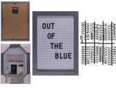 Oh My Home Bord voor Cijfers en Letters (16 x 22 cm)