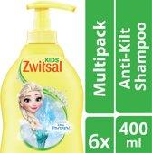 Zwitsal Frozen Anti-Klit Shampoo - 6 x 400 ml - Voordeelverpakking