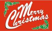 Vlag Merry Christmas 90 x 150 cm - Kerst vlag