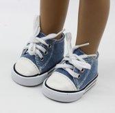 Poppenschoentjes, blauw, sneakers