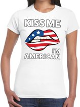 Kiss me I am American t-shirt wit dames M