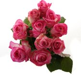 Boeket van Botanicly – Roos Candy Avalanche Small (10 stuks) – Hoogte: 60 cm , 10 takken