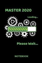 Master 2020: Lined Notebook - Journal Diary - A5 Format - Lined Pages