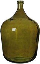 Mica Decorations - diego glazen fles groen - maat in cm: 56 x 40