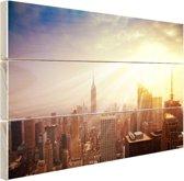 New York in december Hout 120x80 cm - Foto print op Hout (Wanddecoratie)