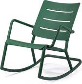 TOOU OUTO Rocking chair - Kunststof schommelstoel - Donkergroen